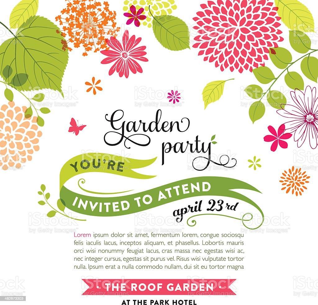 Floral Design with Copyspace vector art illustration