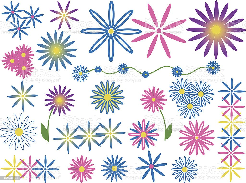Floral Designs royalty-free stock vector art
