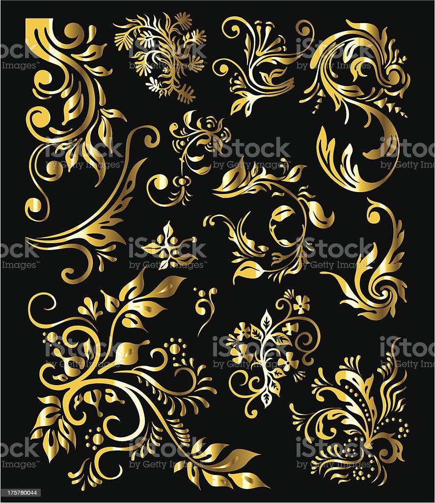 Floral desoration elements royalty-free stock vector art