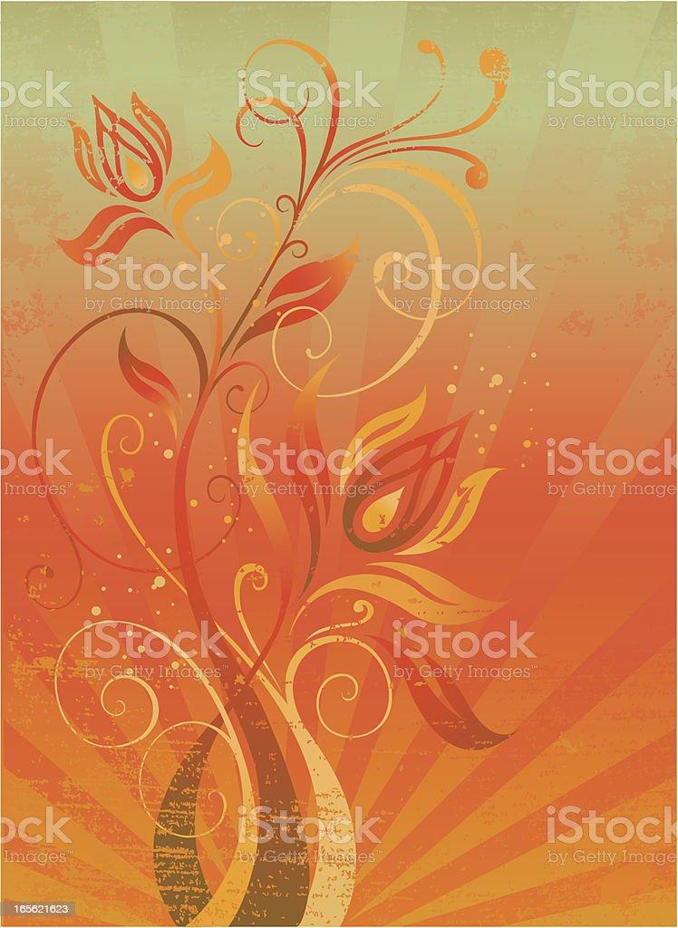 floral distress royalty-free stock vector art
