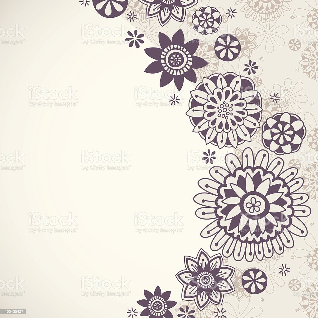 Floral Doodle Background royalty-free stock vector art