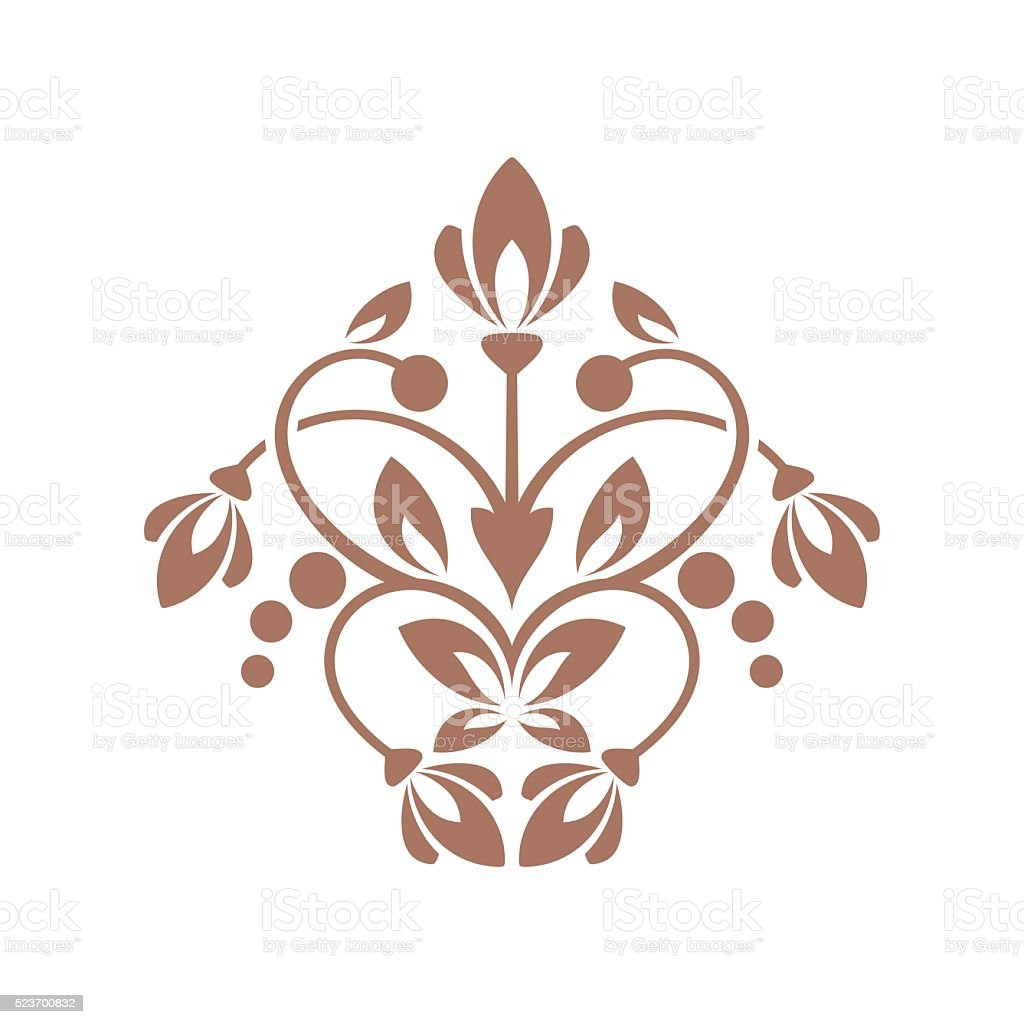 Floral element for design vector art illustration