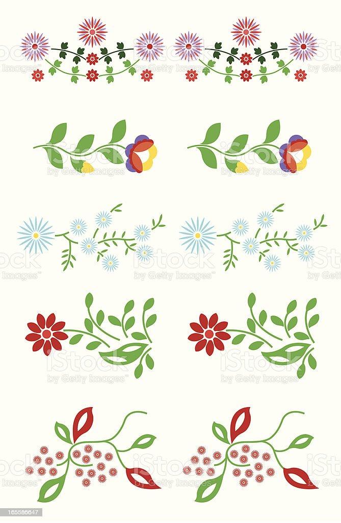 Floral element vector art illustration