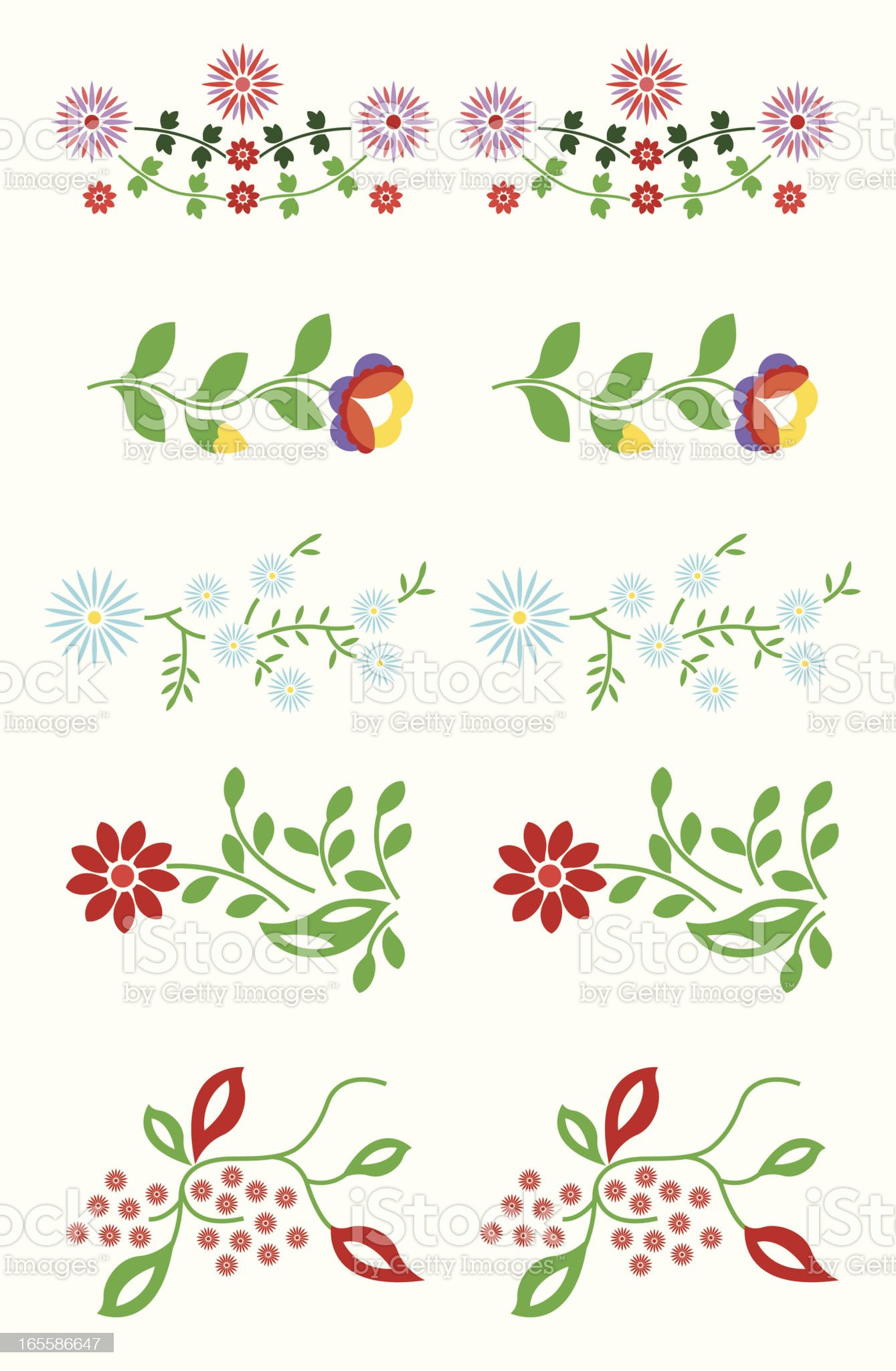 Floral element royalty-free stock vector art
