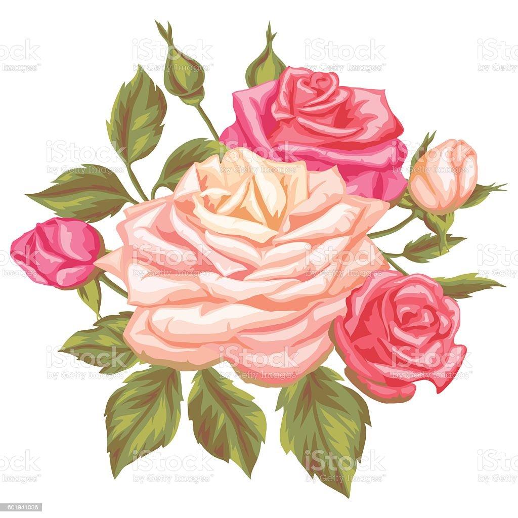 decorative retro flowers - Decorative Flowers
