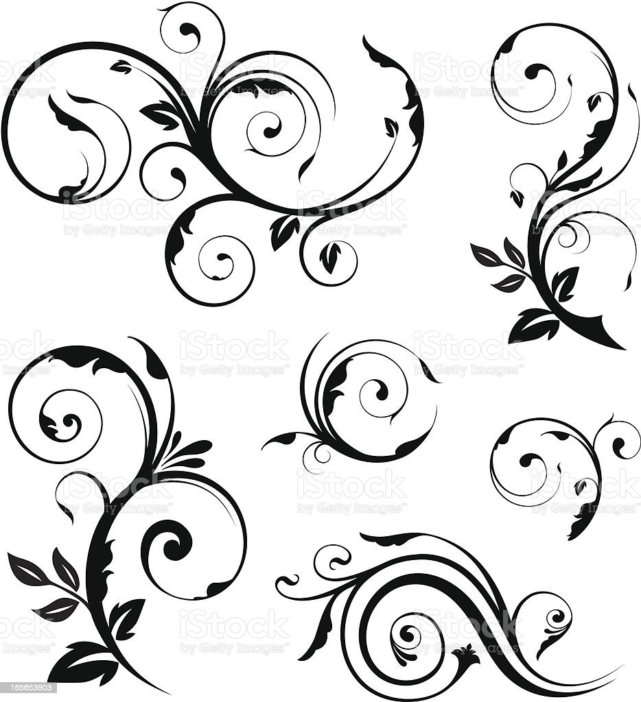 Floral elements collection royalty-free stock vector art