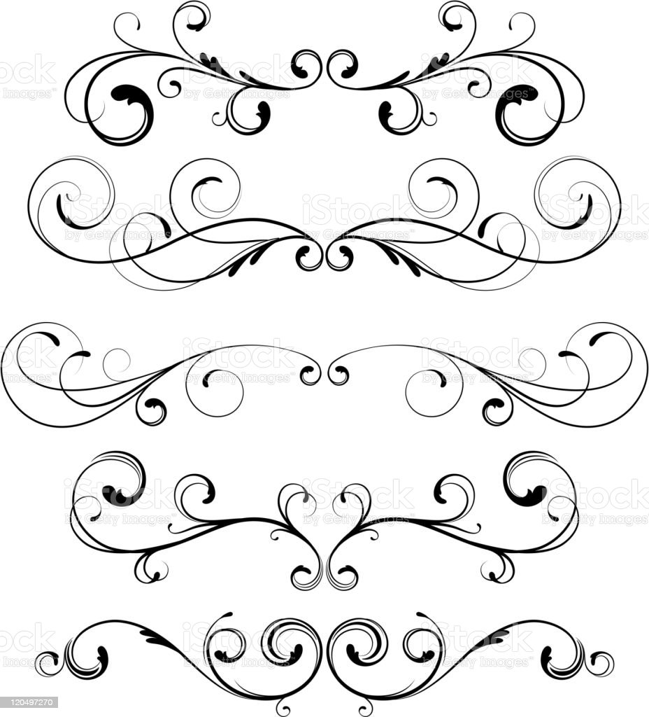floral elements royalty-free stock vector art