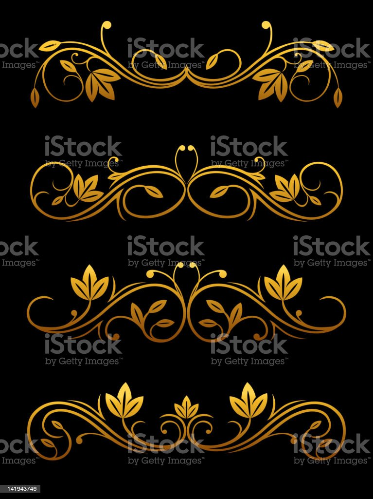 Floral embellishments royalty-free stock vector art