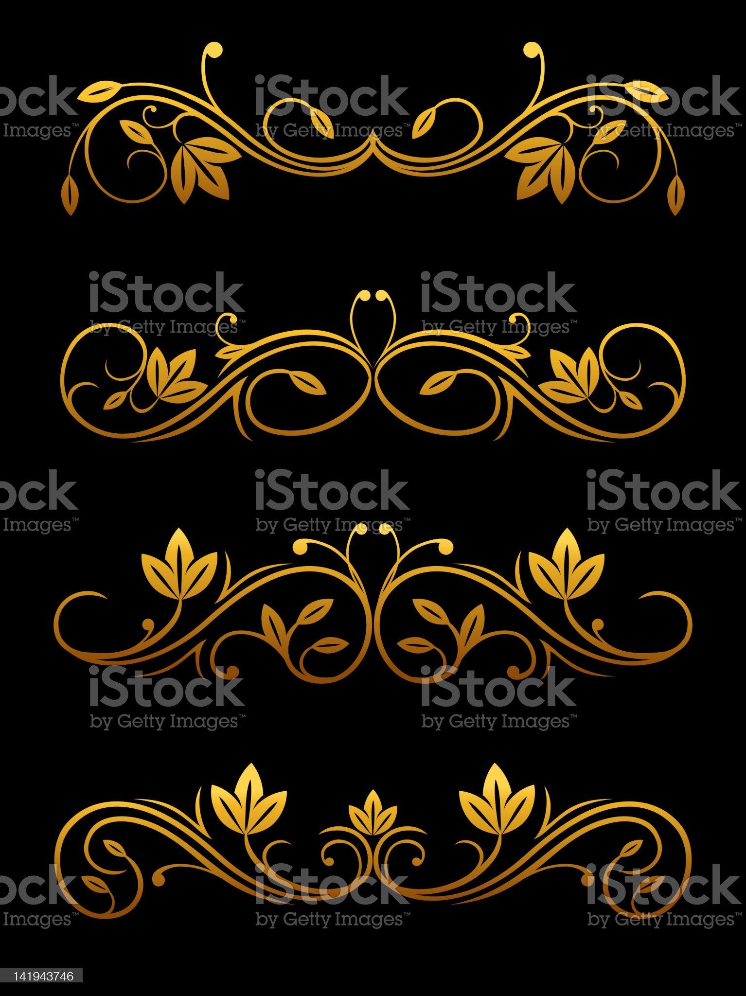 Floral embellishments royalty-free stock vector art