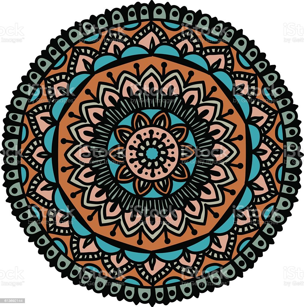 floral ethnic mandala vector art illustration