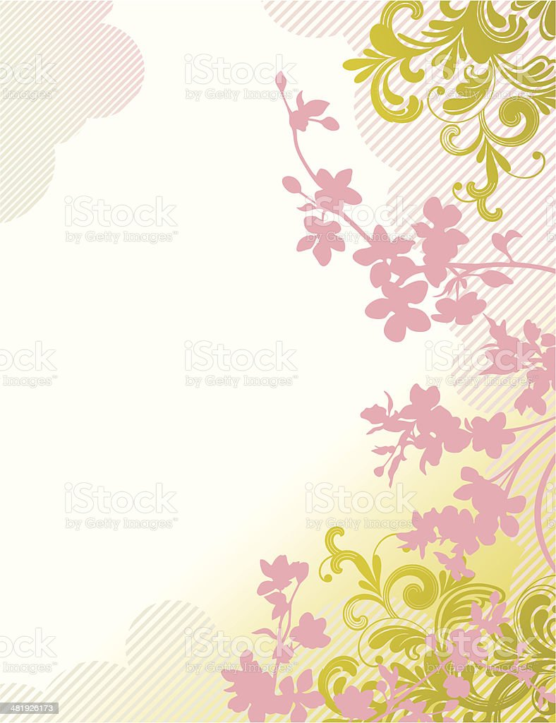 Floral fantasy vector art illustration