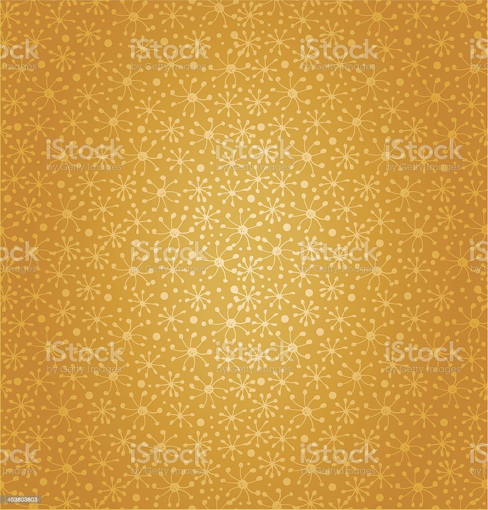Floral fantasy yellow background royalty-free stock vector art