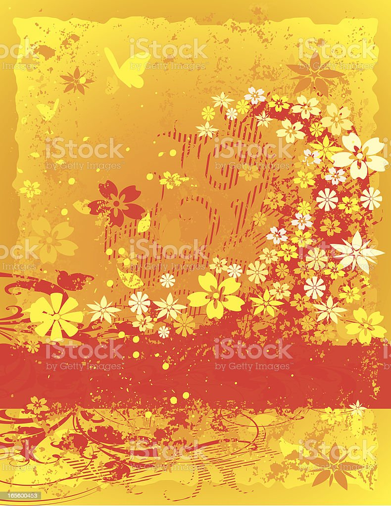 Floral Fire royalty-free stock vector art