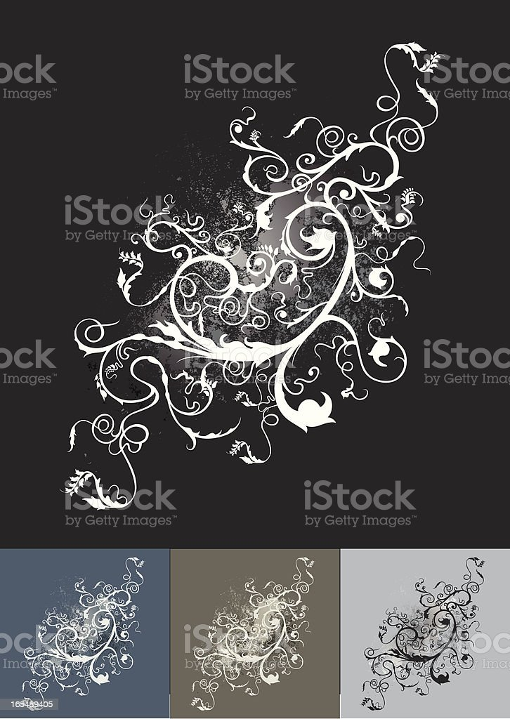 floral flourish royalty-free stock vector art