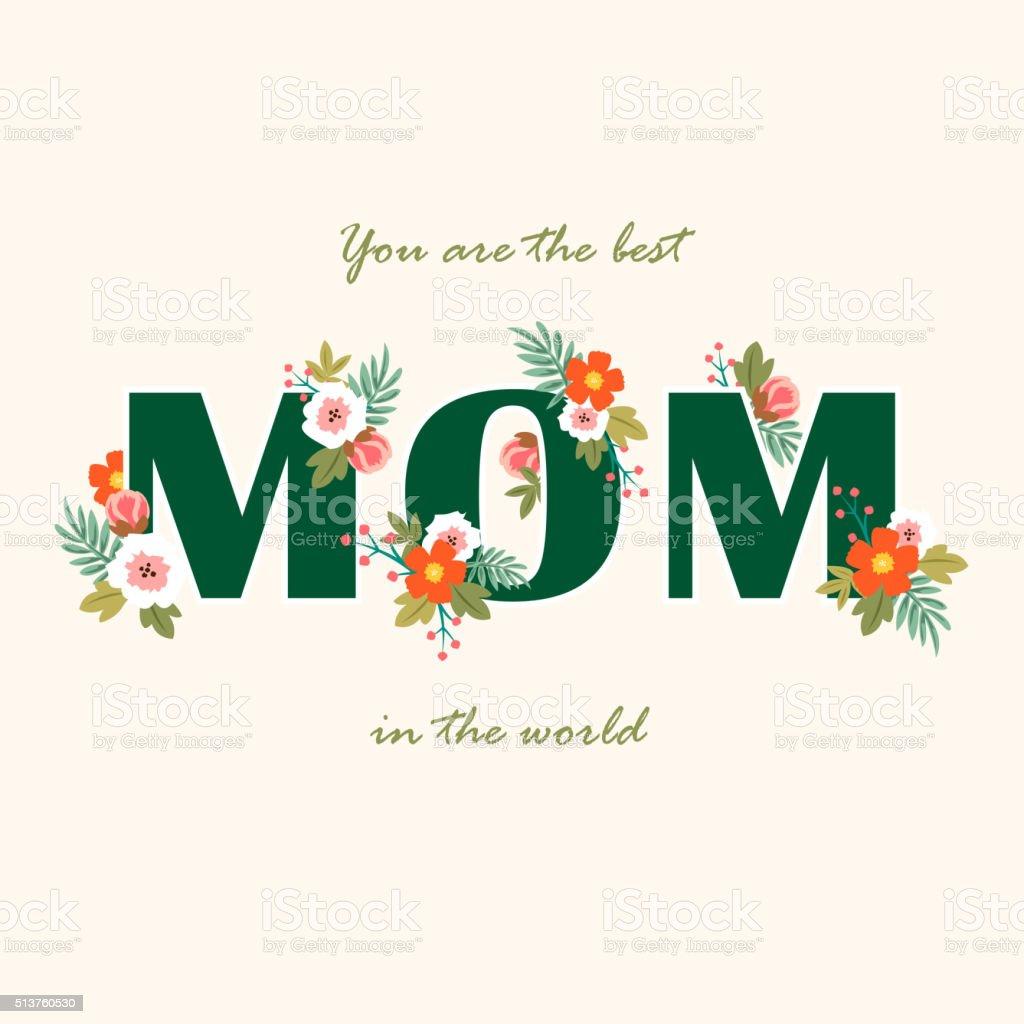 Floral for Mother's Day vector art illustration
