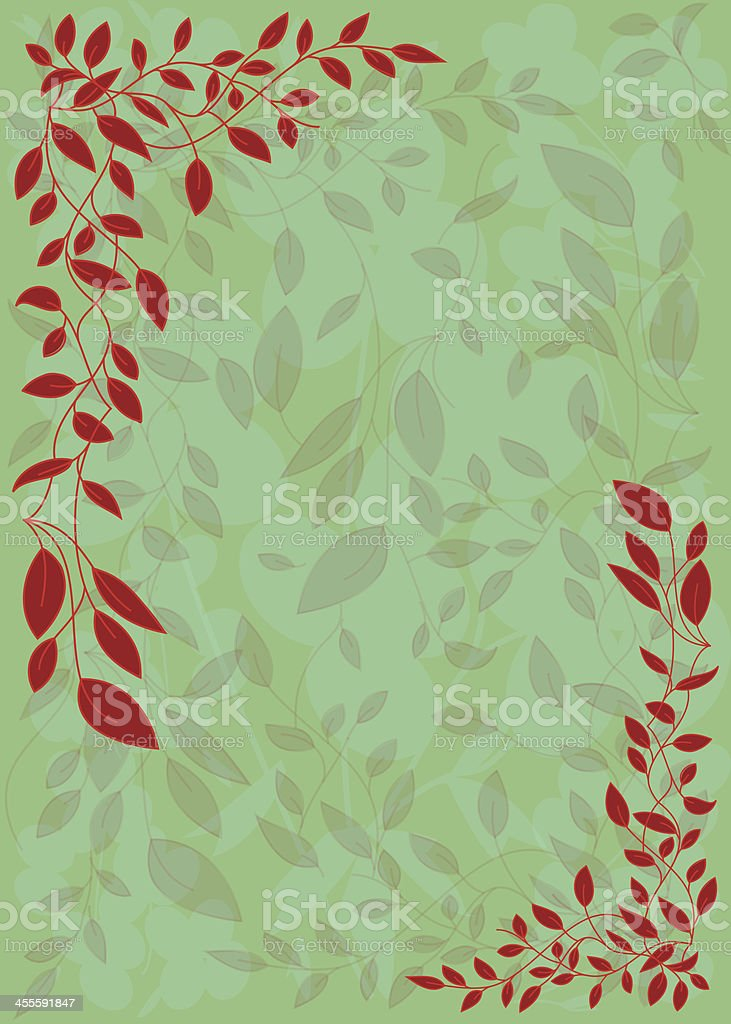 Floral Frame Background royalty-free stock vector art