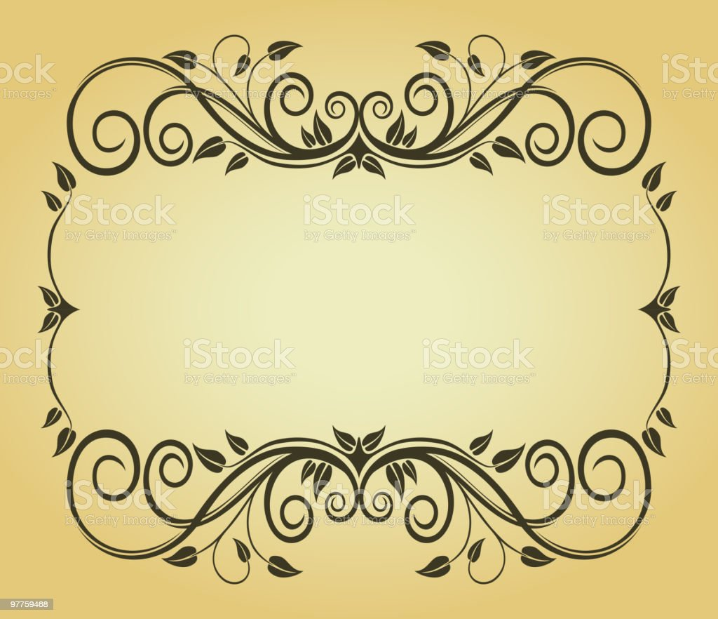 Floral frame in victorian style royalty-free stock vector art