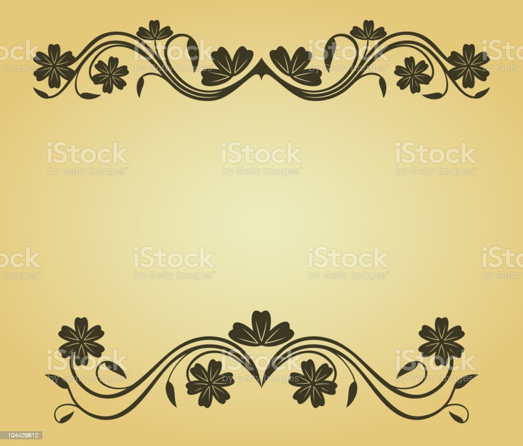 Floral frame royalty-free stock vector art