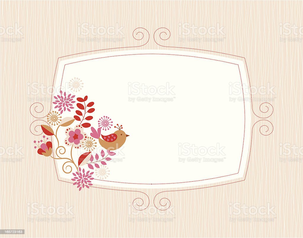 Floral frame . royalty-free stock vector art