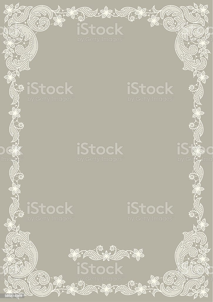 Floral frame. royalty-free stock vector art