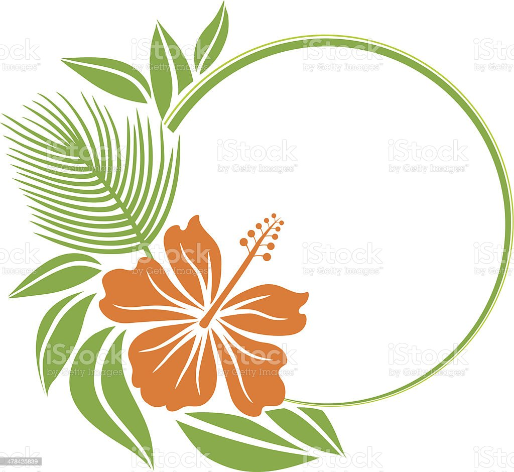 Floral frame vector art illustration