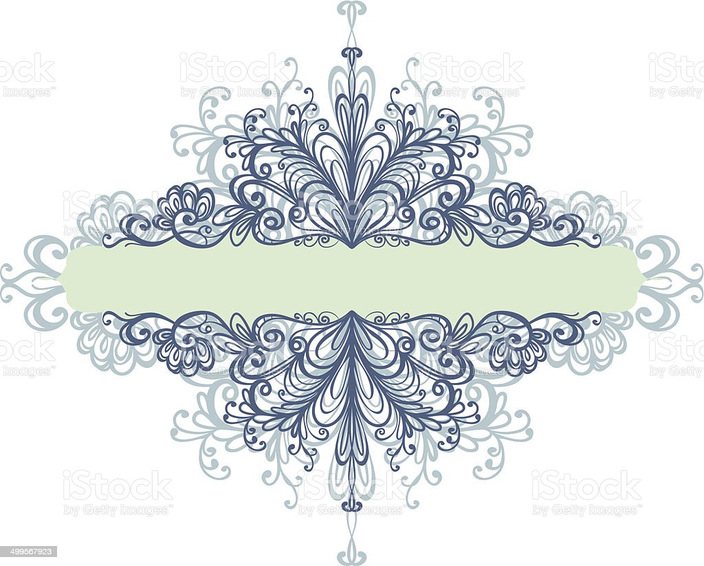 floral frame vector art illustration