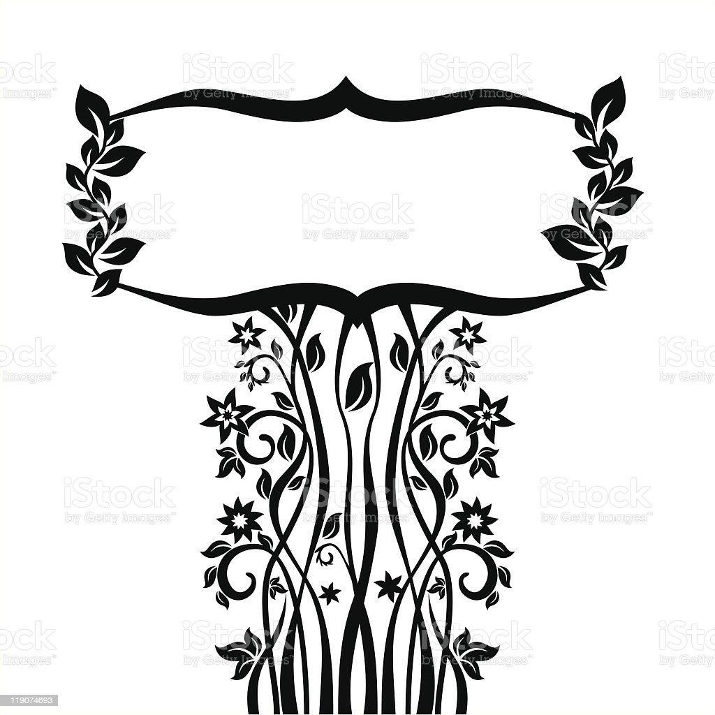 floral frame vector illustration royalty-free stock vector art