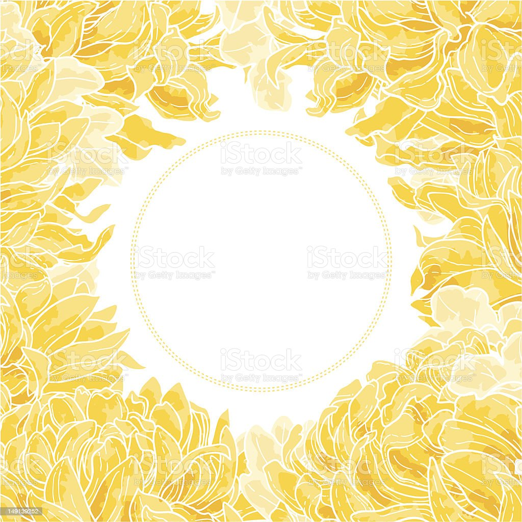 Floral frame with chrysanthemum royalty-free stock vector art