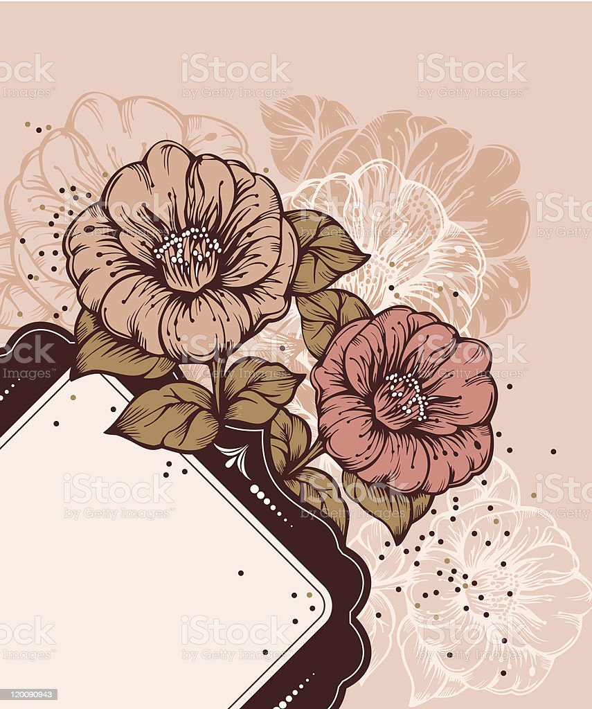 floral frame with rich flowers royalty-free stock vector art