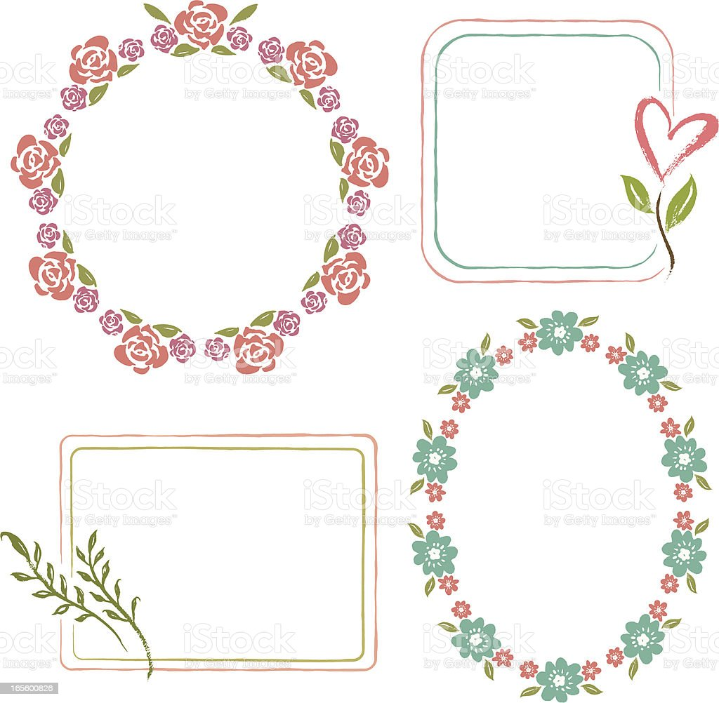 Floral Frames Collection royalty-free stock vector art