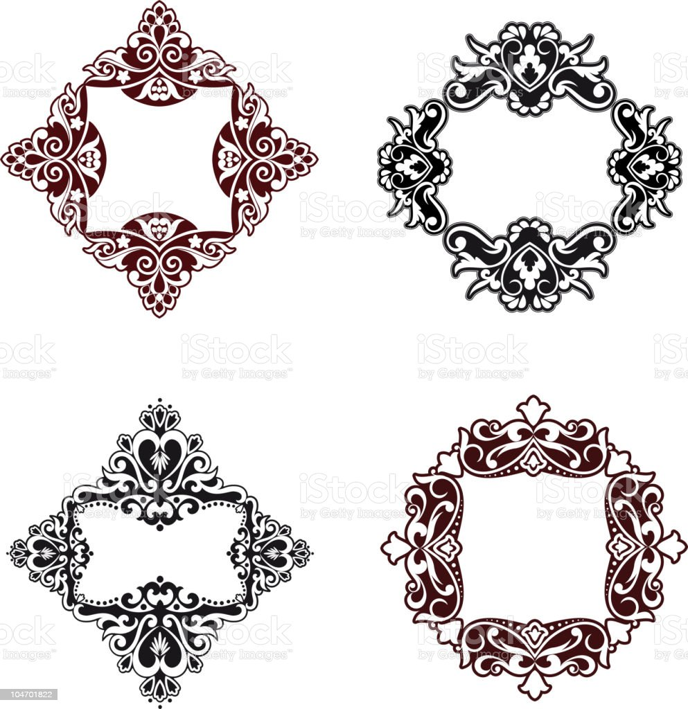 Floral frames royalty-free stock vector art