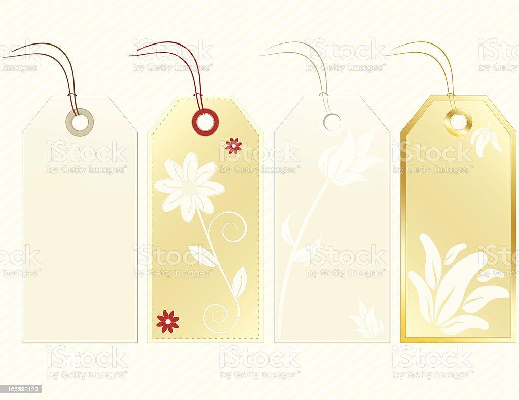 Floral Gold, Hellbraun und rot-Geschenk-Tags und Etiketten und Hintergründe Lizenzfreies vektor illustration