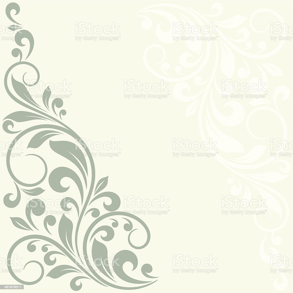 Floral greeting card. vector art illustration