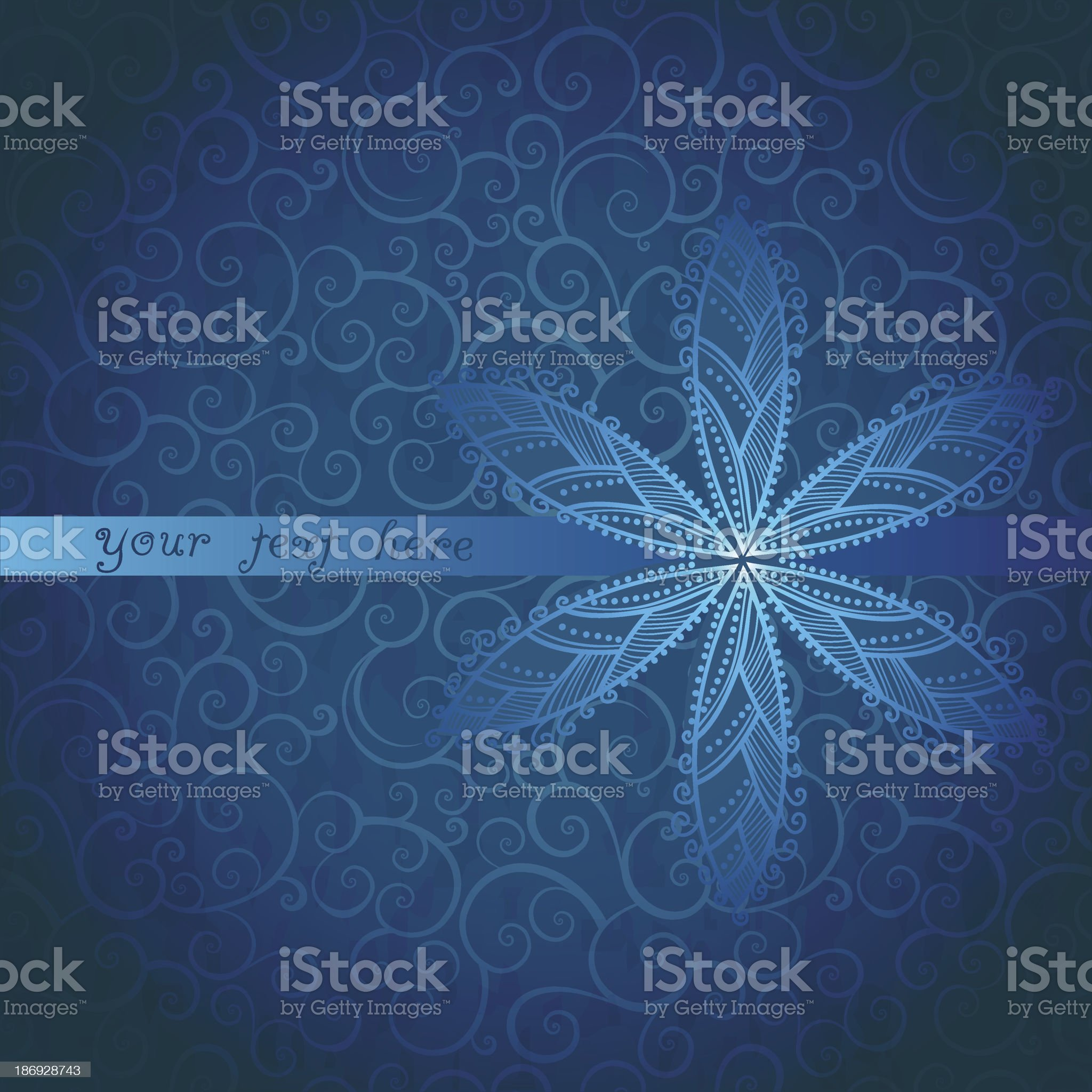 Floral greeting card with place for your text royalty-free stock vector art