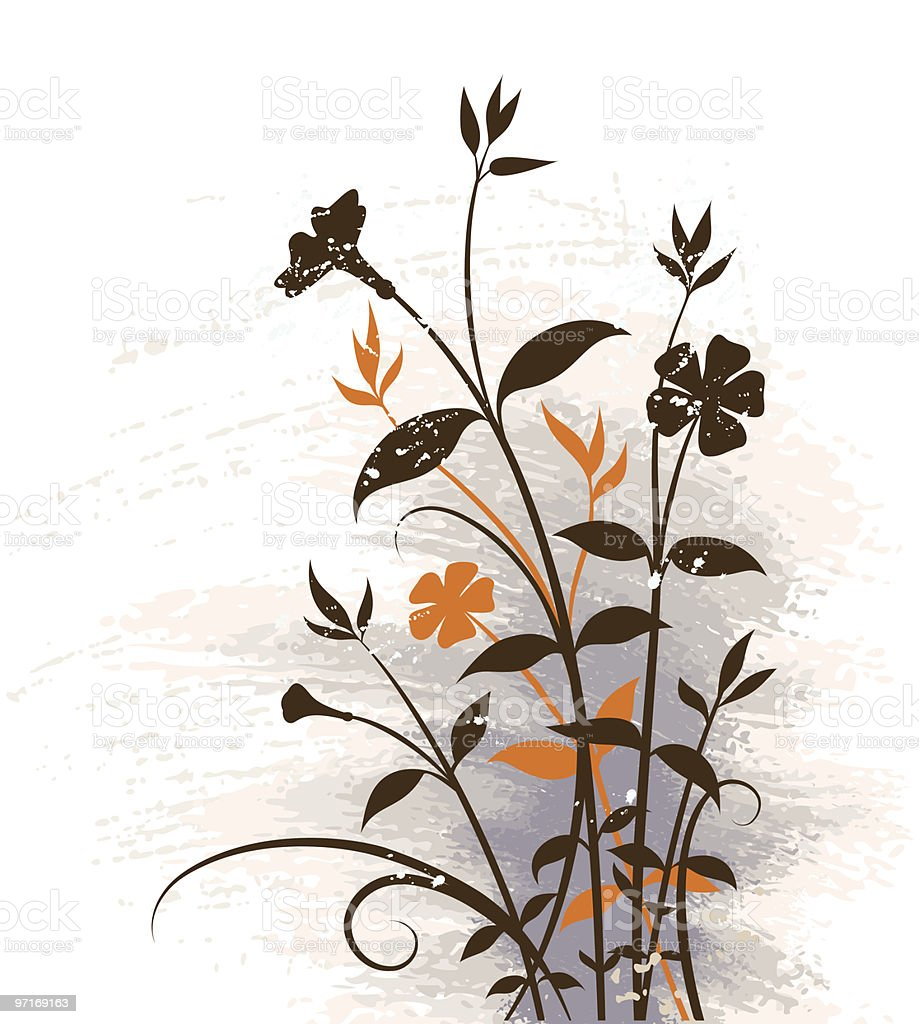 Floral grunge background royalty-free stock vector art
