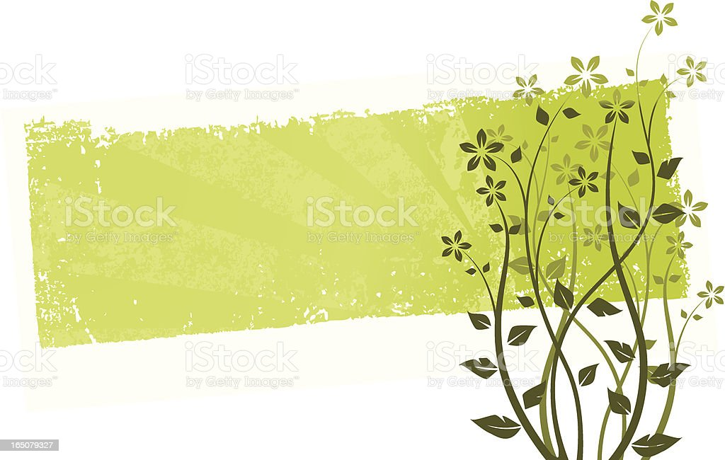 Floral grunge banner royalty-free stock vector art