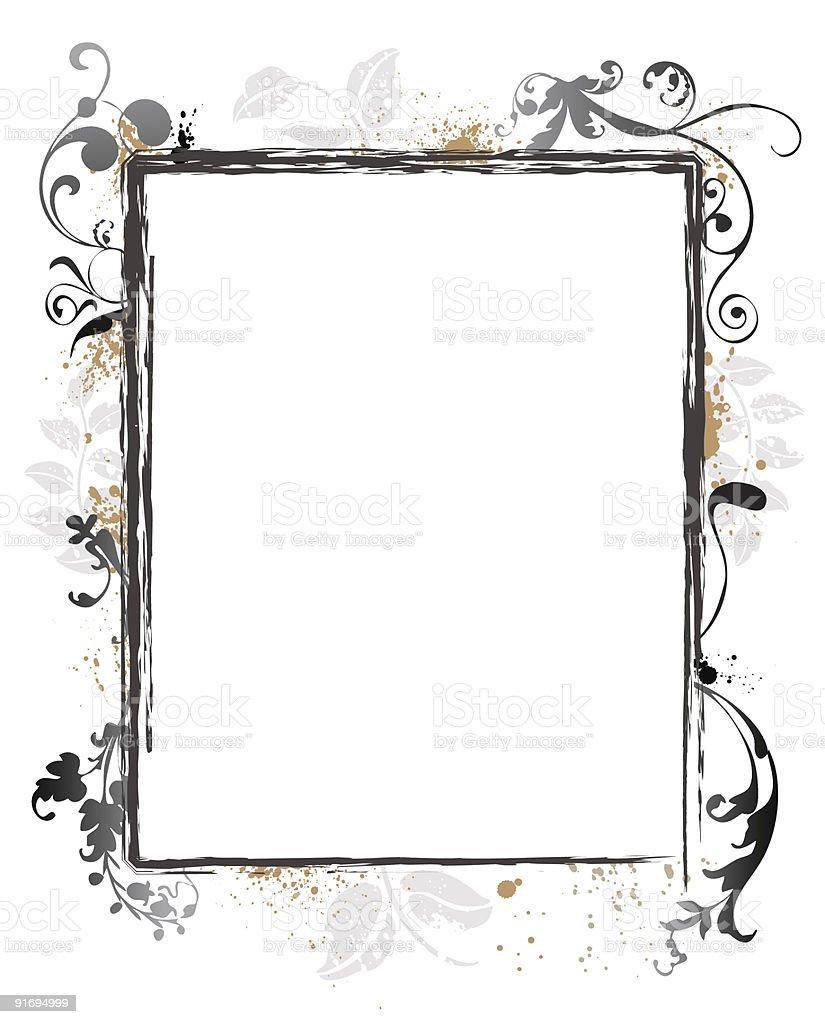 Floral Grunge Frame Border royalty-free stock vector art