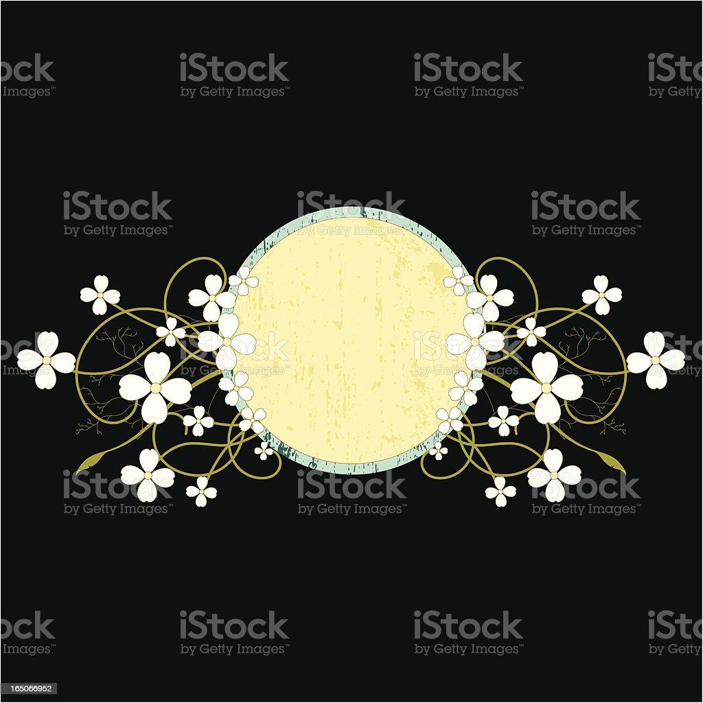 Floral Grunge Frame royalty-free stock vector art