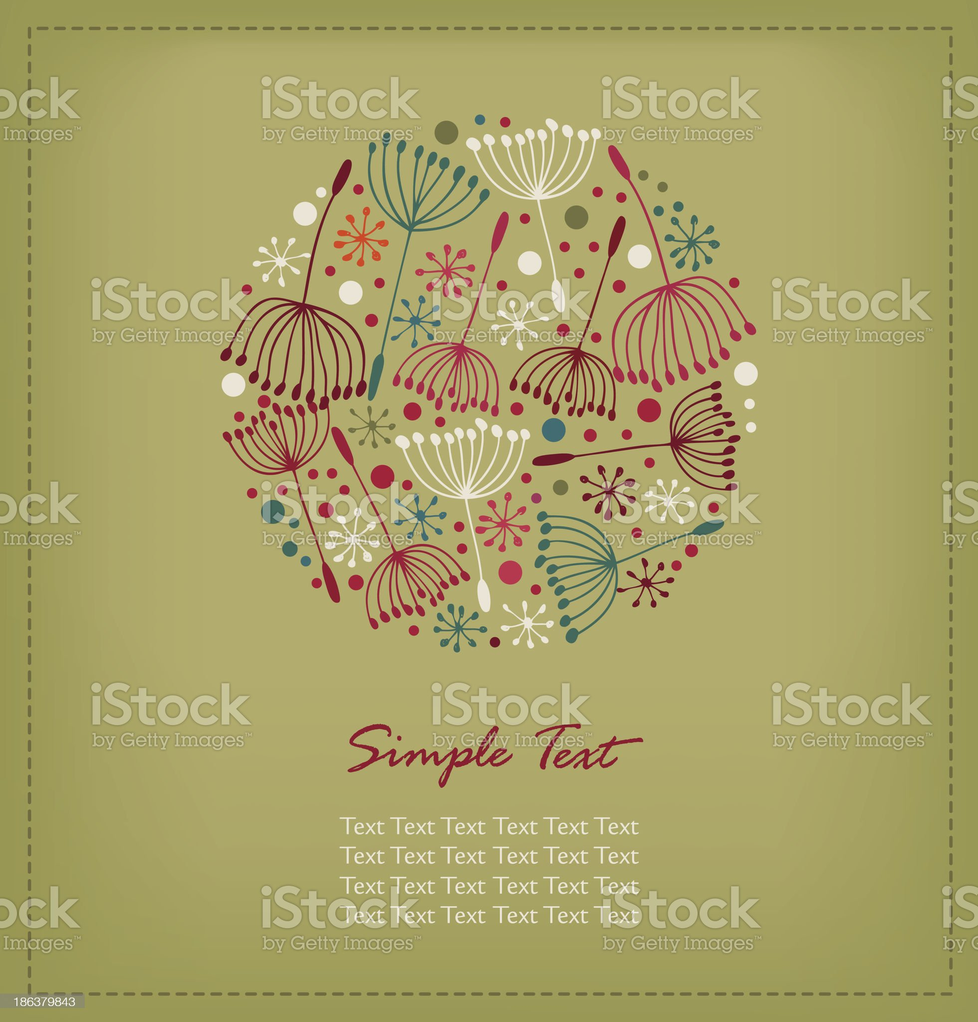 Floral hand drawn cute banner royalty-free stock vector art