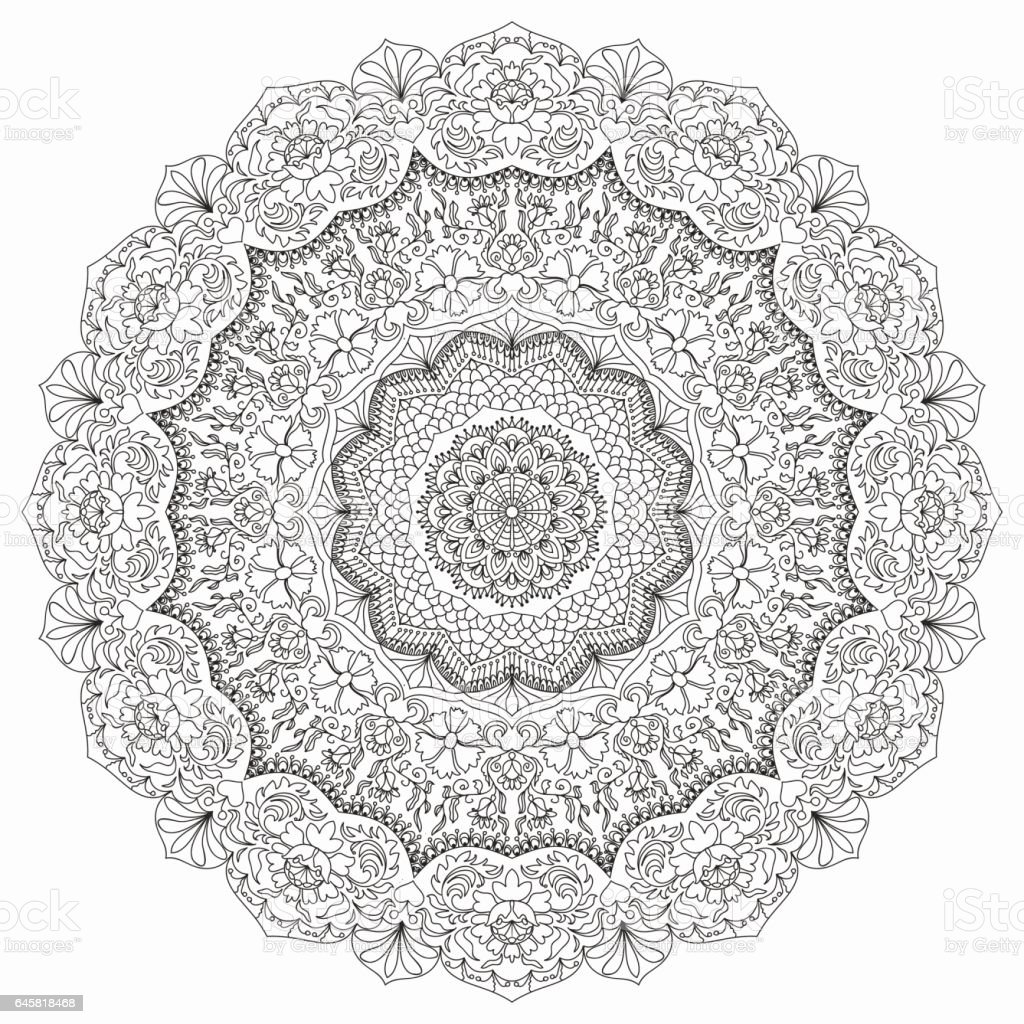 The stress coloring book - Anti Stress Coloring Book Uae Floral Hand Drawn Mandala Coloring Book Page Anti Stress Therapy