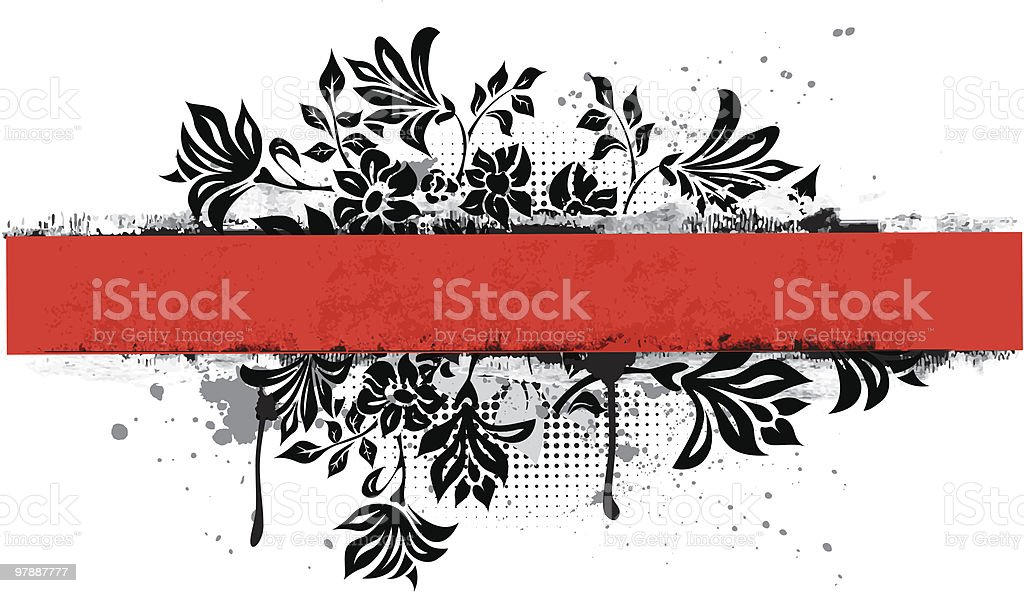 Floral horizontal banner royalty-free stock vector art