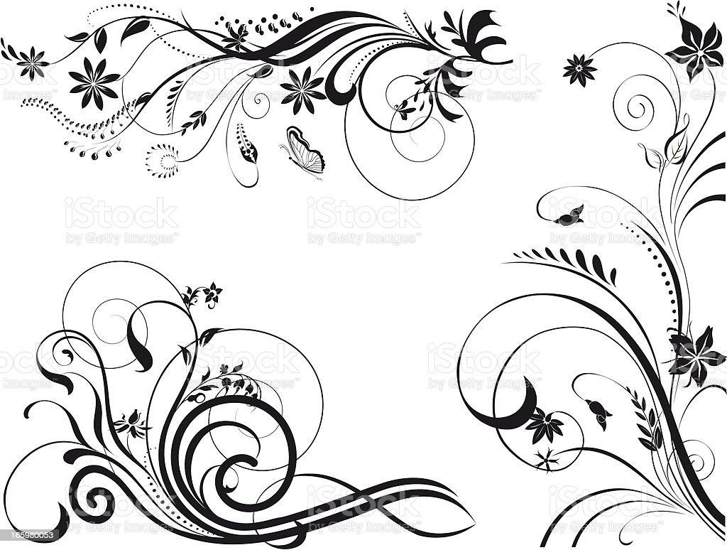 Floral Illustration for Design royalty-free stock vector art