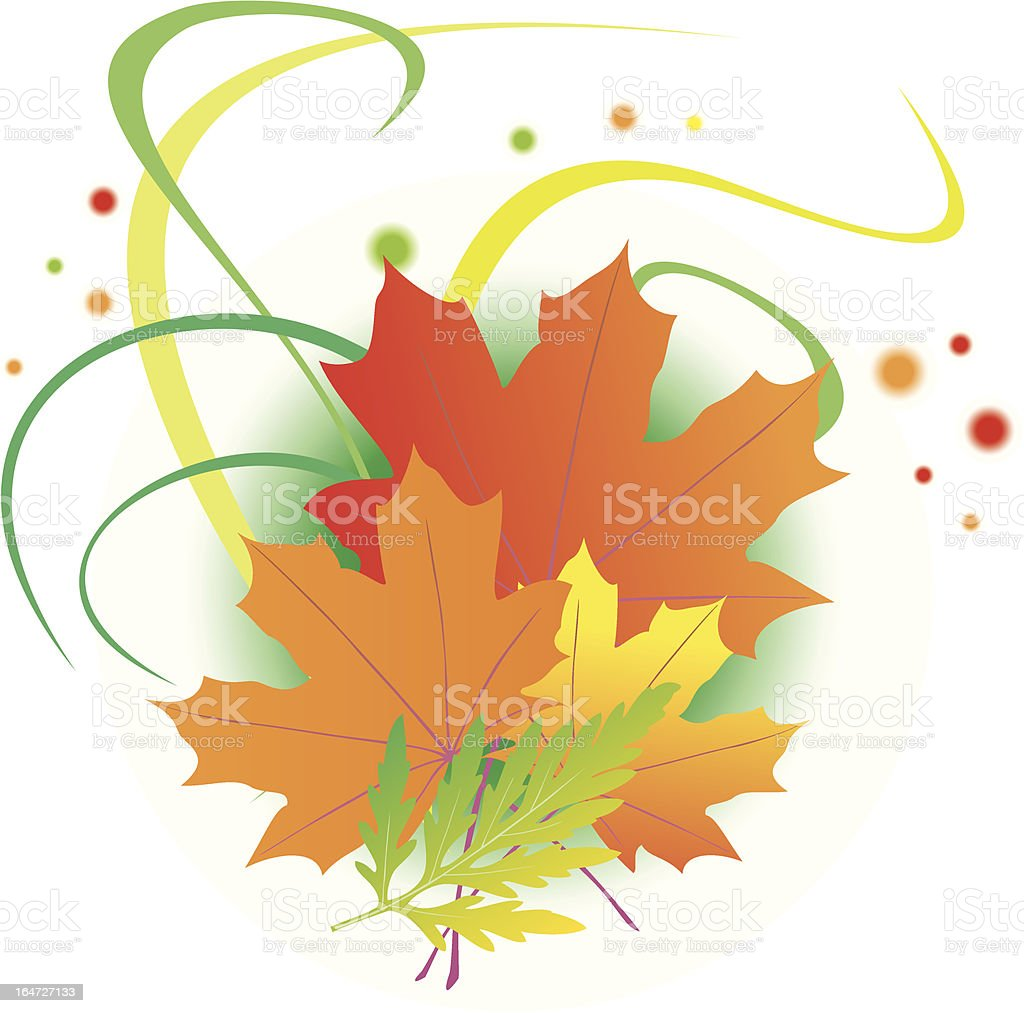 floral illustration with plants royalty-free stock vector art