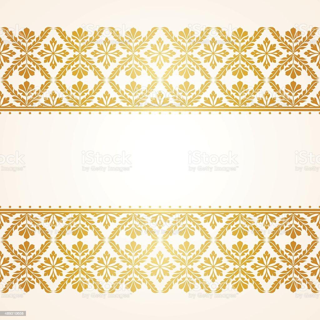 Floral Indian pattern vector art illustration