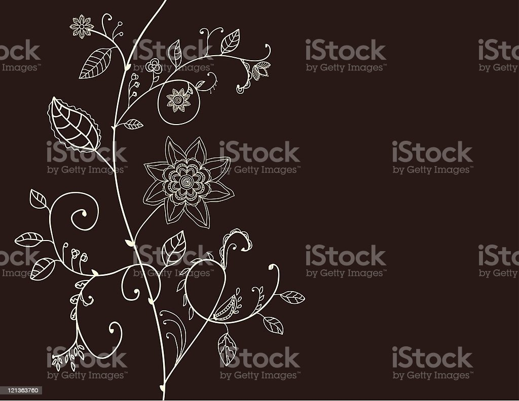 Floral invitation card royalty-free stock vector art