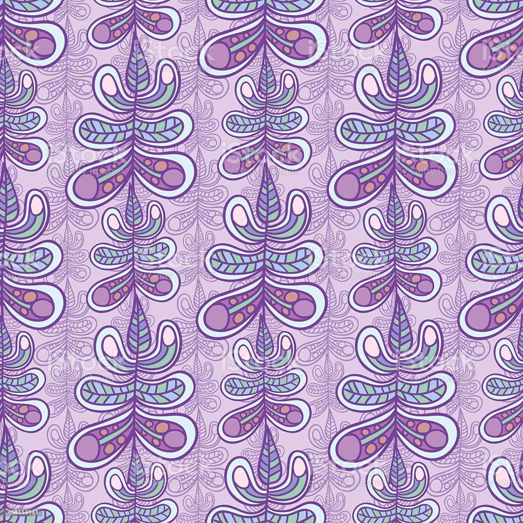 Floral leaf pattern vector art illustration