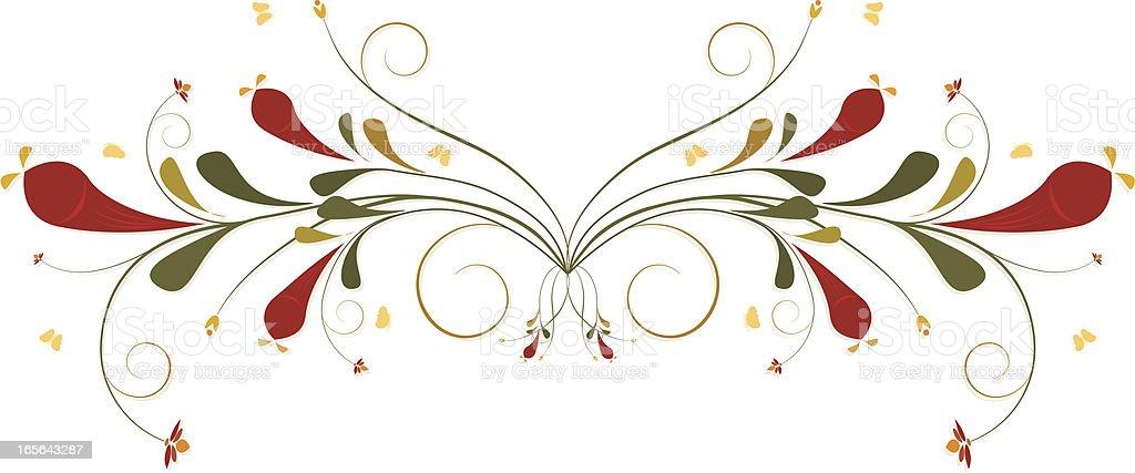 Pflanzenmuster Girlanden, Schnörkel Design-Element Lizenzfreies vektor illustration