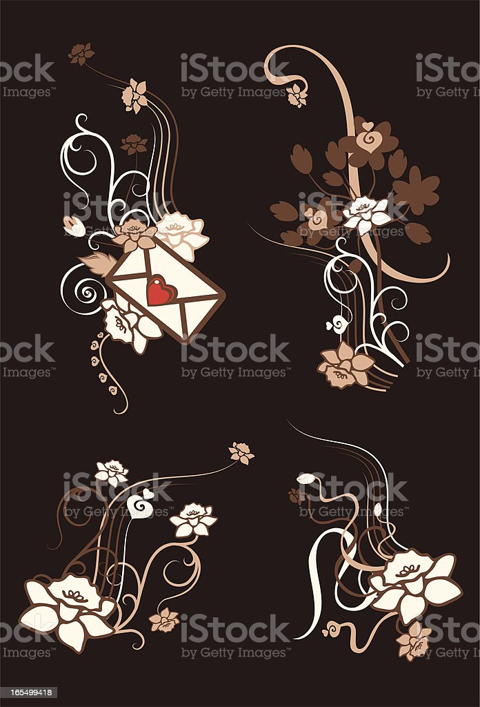 Floral Letter royalty-free stock vector art