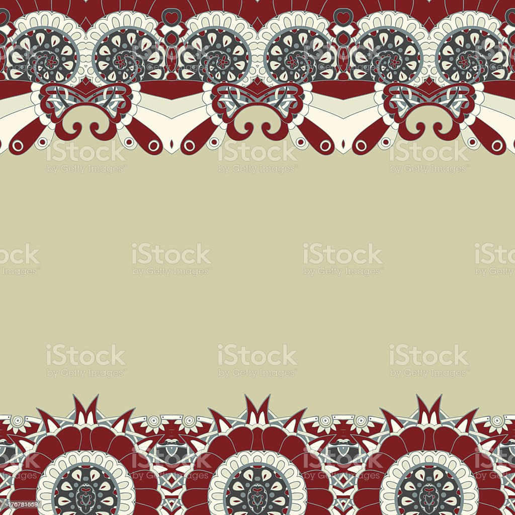 Floral mechanism seamless vector royalty-free stock vector art