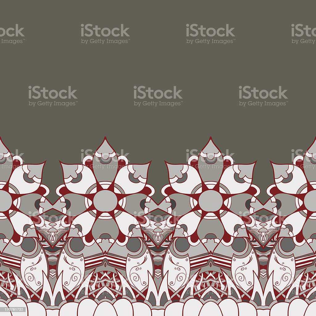 Floral mechanism seamless vector royalty-free stock vector art